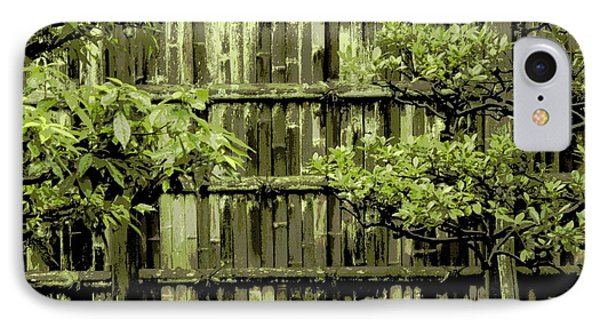 Mossy Bamboo Fence - Digital Art Phone Case by Carol Groenen