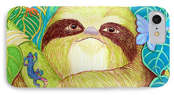 Mossy Sloth Phone Case by Nick Gustafson