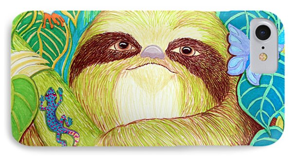 Mossy Sloth IPhone Case