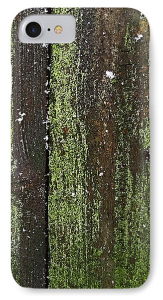 IPhone Case featuring the photograph Mossy Winter Fence by Mary Bedy