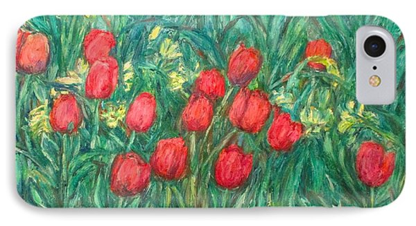 IPhone Case featuring the painting Mostly Tulips by Kendall Kessler