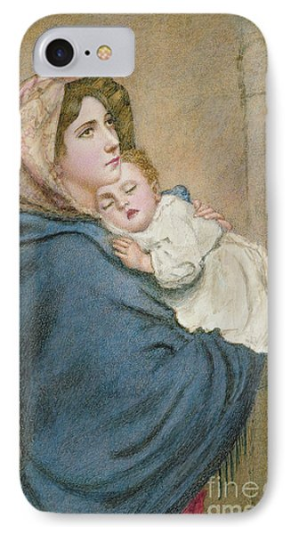 Mother And Child IPhone Case by English School