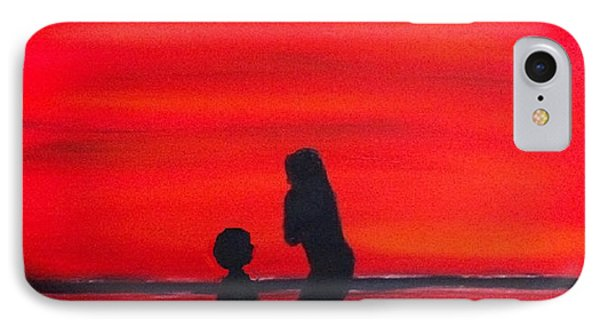 IPhone Case featuring the painting Mother And Child by Rod Jellison