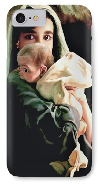Mother And Child IPhone Case by Ron Chambers