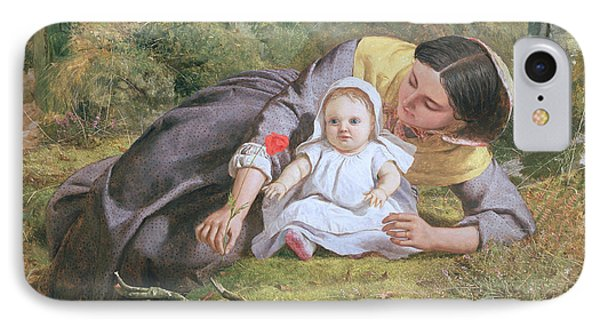 Mother And Child With A Poppy Phone Case by Frederick Richard Pickersgil