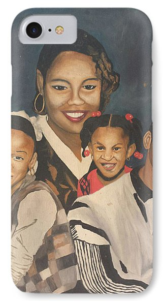 Mother And Children IPhone Case by Angelo Thomas