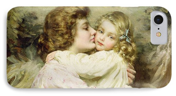 Mother And Daughter  IPhone Case by Thomas Benjamin Kennington