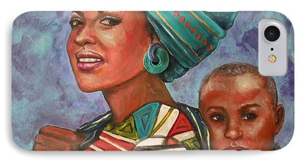 Mother And Son IPhone Case by Alga Washington