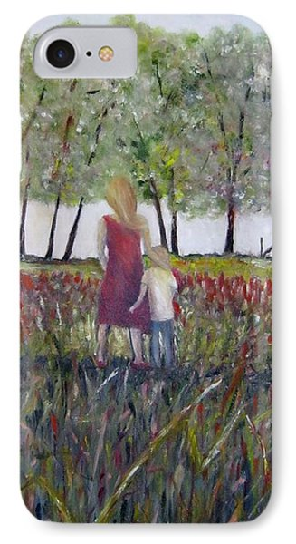 IPhone Case featuring the painting Mother And Son by Marilyn  McNish