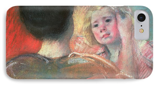 Mother Combing Sara's Hair  IPhone Case by Mary Stevenson Cassatt