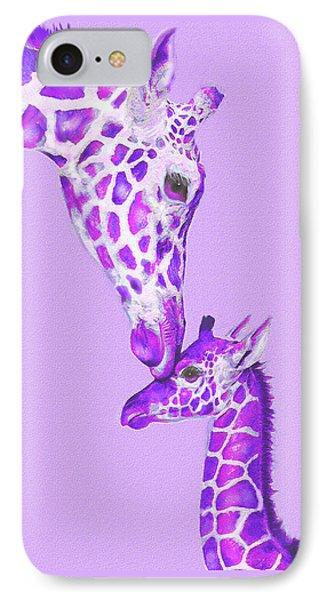 Mother Giraffe IPhone Case by Jane Schnetlage