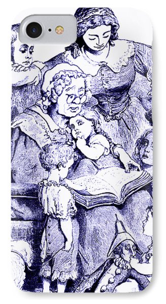Mother Goose Reading To Children Phone Case by Marian Cates