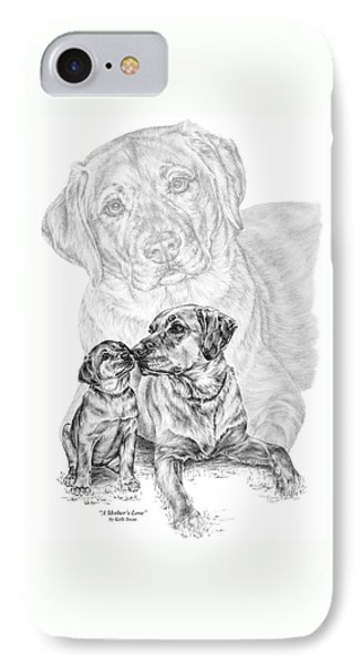 Mother Labrador Dog And Puppy IPhone Case by Kelli Swan