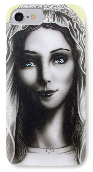 Mother Mary IPhone Case by Dan Menta