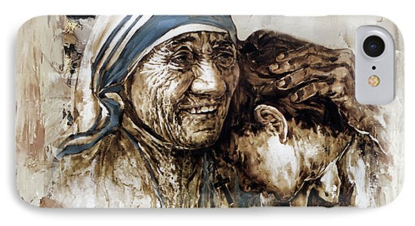 IPhone Case featuring the painting Mother Teresa  by Gull G