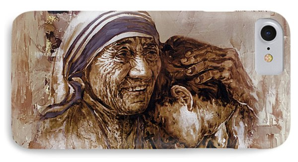 IPhone Case featuring the painting Mother Teresa Of Calcutta  by Gull G