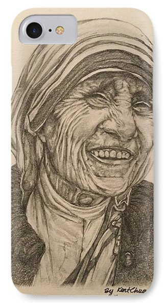 Mother Theresa Kindness IPhone 7 Case by Kent Chua