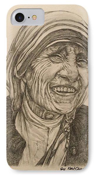 Mother Theresa Kindness IPhone Case by Kent Chua