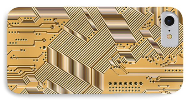 Motherboard - Printed Circuit IPhone Case by Michal Boubin