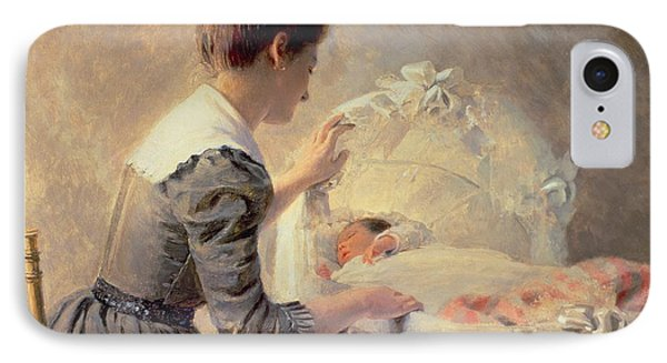 Motherhood Phone Case by Louis Emile Adan