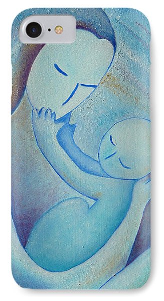 Motherhood Oil Painting Your Little Hands By Gioia Albano IPhone Case by Gioia Albano