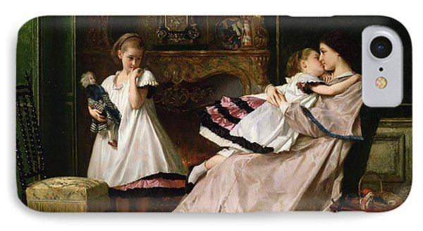 Motherly Love Phone Case by Gustave Leonard de Jonghe