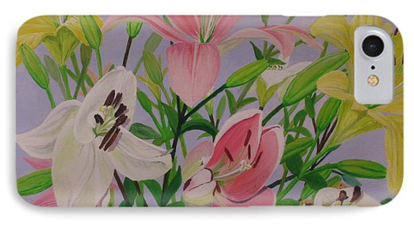 IPhone Case featuring the painting Mother's Day Bouquet by Hilda and Jose Garrancho