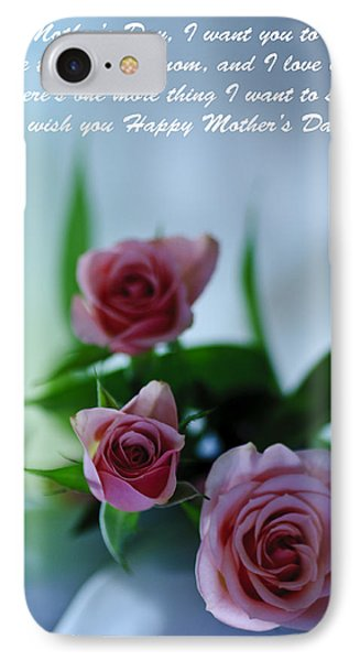 IPhone Case featuring the photograph Mother's Day Card 1 by Michael Cummings