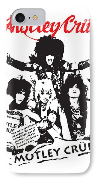 Motley Crue No.01 IPhone Case by Caio Caldas