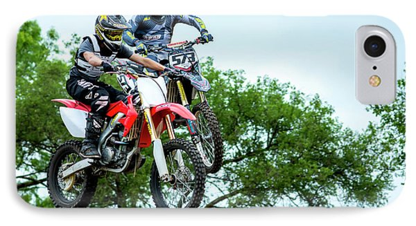 IPhone Case featuring the photograph Motocross Battle by David Morefield
