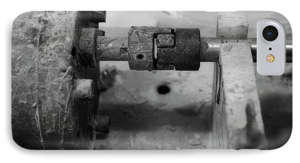 Motor Coupling Bw IPhone Case by Thomas Woolworth