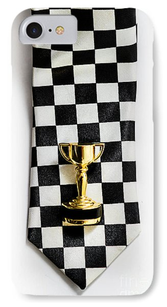 Motor Sport Racing Tie And Trophy IPhone Case
