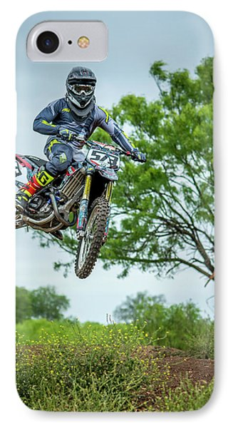 IPhone Case featuring the photograph Motocross Aerial by David Morefield