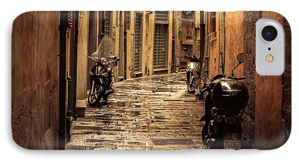 Motorcycle Alley IPhone Case by Chris Fletcher