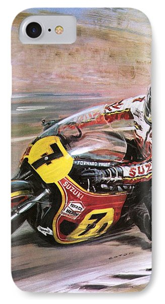 Motorcycle Racing IPhone Case by Graham Coton