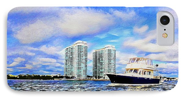 Motoring Past The Marina Grande IPhone Case by Alice Gipson