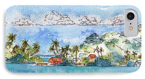 Motu Toopua Bora Bora IPhone Case by Pat Katz