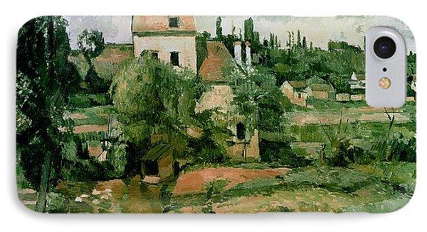 Moulin De La Couleuvre At Pontoise Phone Case by Paul Cezanne