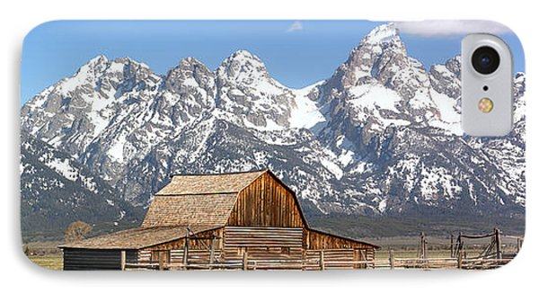 Moulton Barn Homestead Spring Panorama IPhone Case by Adam Jewell