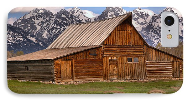 Moulton Barn Spring Landscape IPhone Case by Adam Jewell