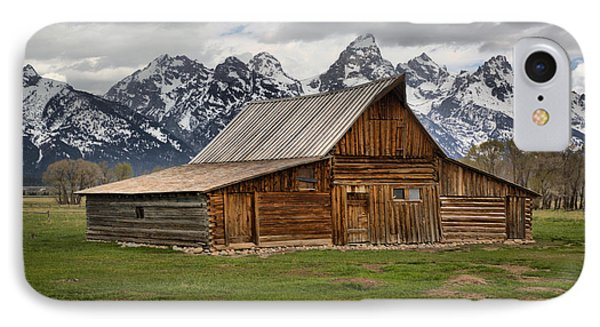 Moulton Barn Spring Storms IPhone Case by Adam Jewell