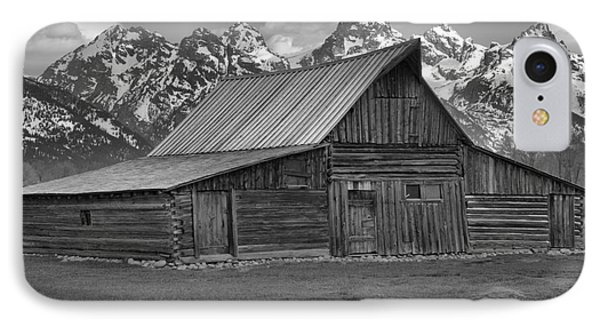 Moulton Barn Springtime Black And White IPhone Case by Adam Jewell