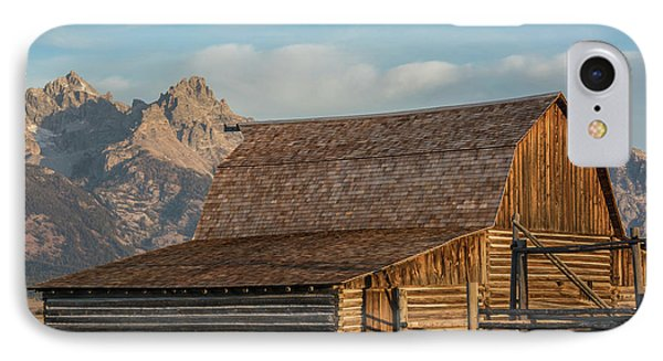 IPhone Case featuring the photograph Moulton Homestead - Barn At Morning Light by Colleen Coccia