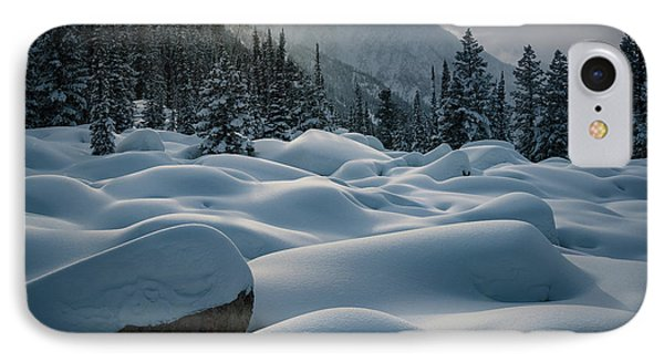 Mounds Of Snow In Little Cottonwood Canyon IPhone Case