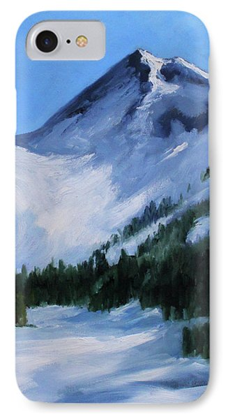 IPhone Case featuring the painting Mount Baker Glacier by Nancy Merkle