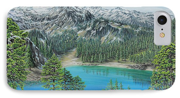 IPhone Case featuring the painting Mount Baker Wilderness by Jane Girardot