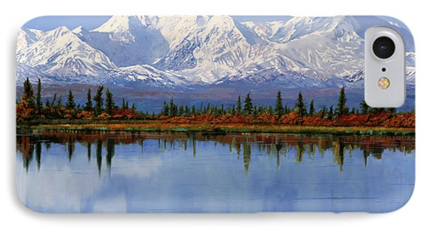 mount Denali in Alaska IPhone Case by Guido Borelli