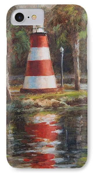 Mount Dora Lighthouse IPhone Case by Tracie Thompson