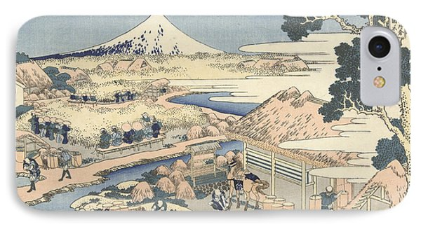 Mount Fuji From Katakura Tea Garden IPhone Case by Hokusai
