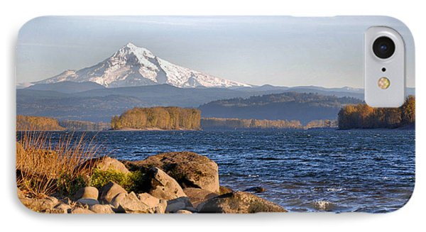 Mount Hood And The Columbia River IPhone Case by Jim Walls PhotoArtist